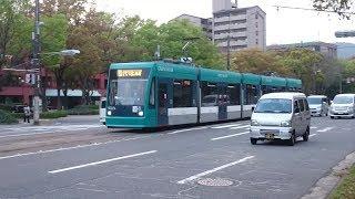 広島電鉄5000形5002号『GREENMOVER』福島町〜西観音町