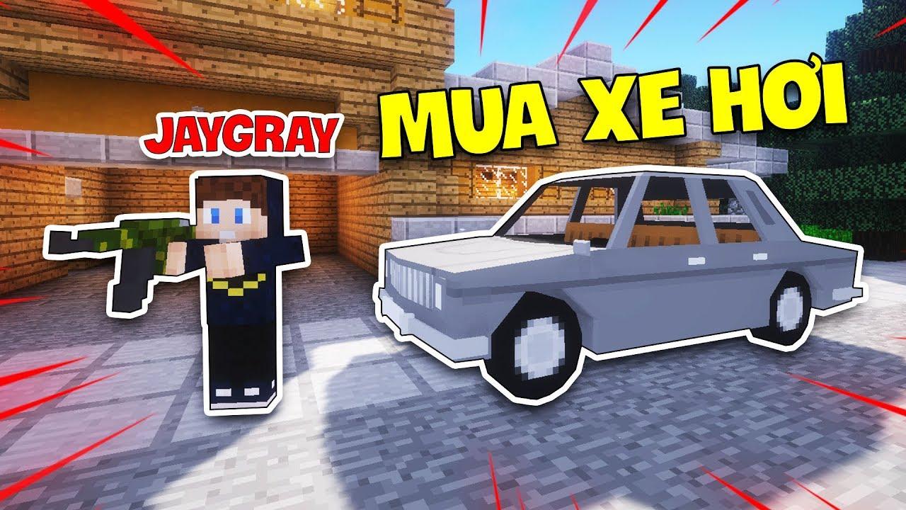 MINECRAFT GTA 5 ONLINE - TẬP 1 | JAYGRAY LÀM VIỆC KIẾM TIỀN MUA XE HƠI CỰC XỊN !!!