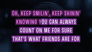 That's What Friends Are For Karaoke Version by Celine Dion (Video with Lyrics)