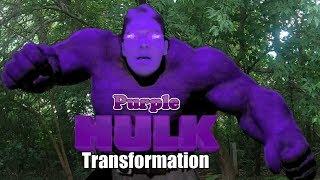 Purple Incredible Hulk In Real Life!