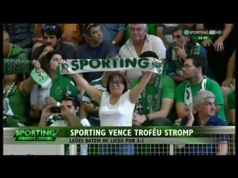 Hoquei Patins :: Sporting - 3 x Liceo Coruña - 1 de 2015/2016 Troféu Stromp