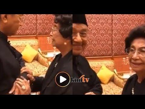 Siti Hasmah tenangkan Dr M sebelum angkat sumpah PM