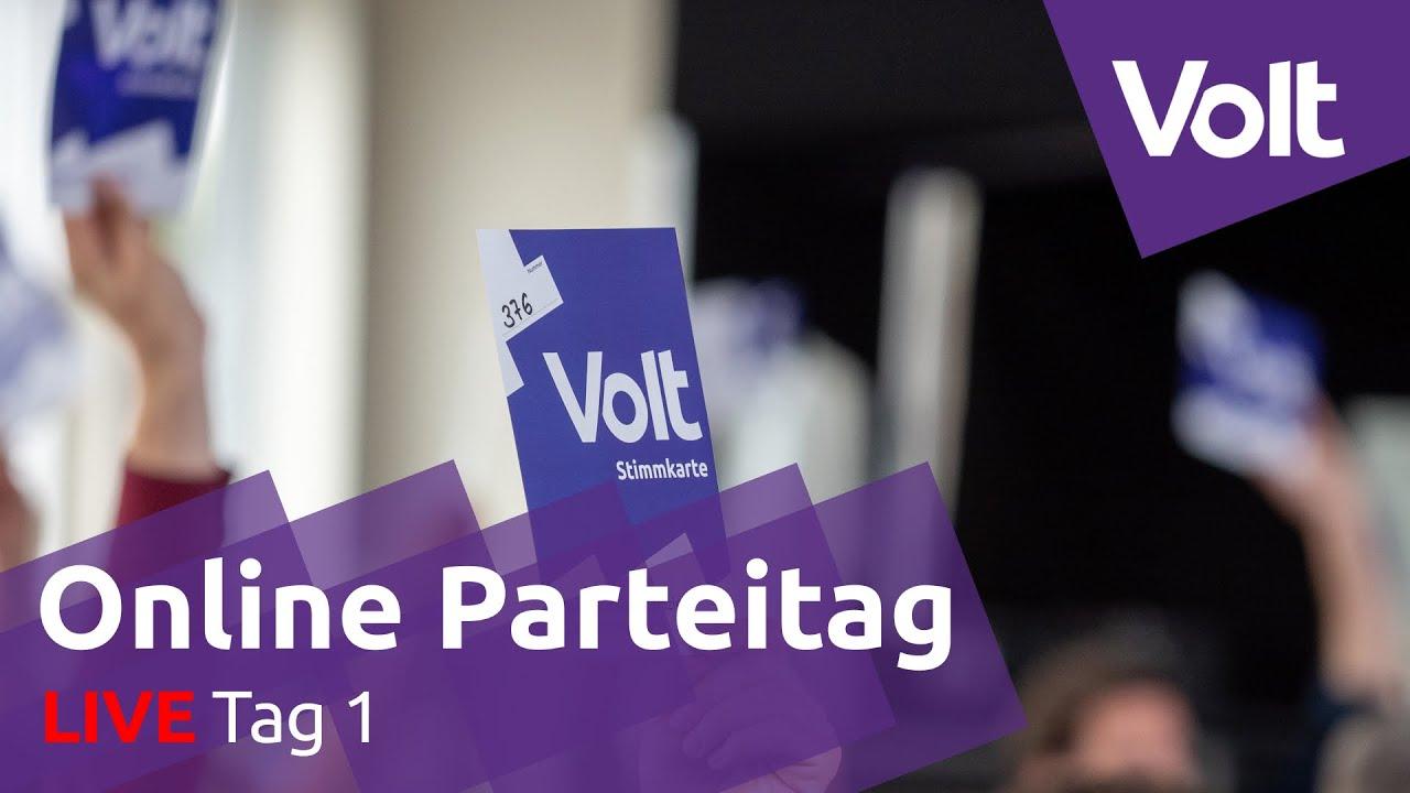 YouTube: Online Parteitag Tag 1 - 15.08.2020 | #VoteVolt