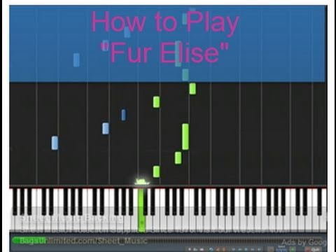 how to play fur elise on virtual piano