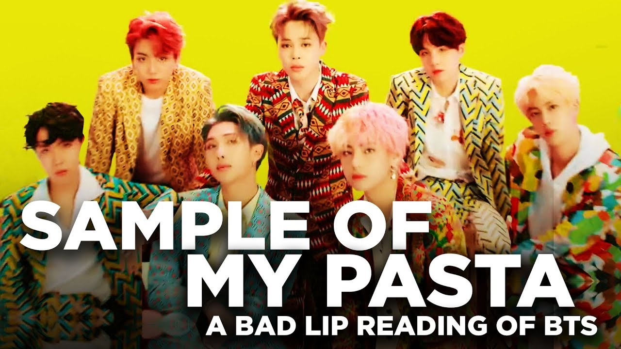 Sample Of My Pasta A Bad Lip Reading Of Bts Youtube