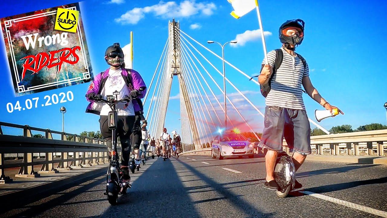 MEGA 100 PERSON PEV STREET GROUPRIDE with POLICE ESCORT - SUUTO WRONG RIDERS 04.07.2020