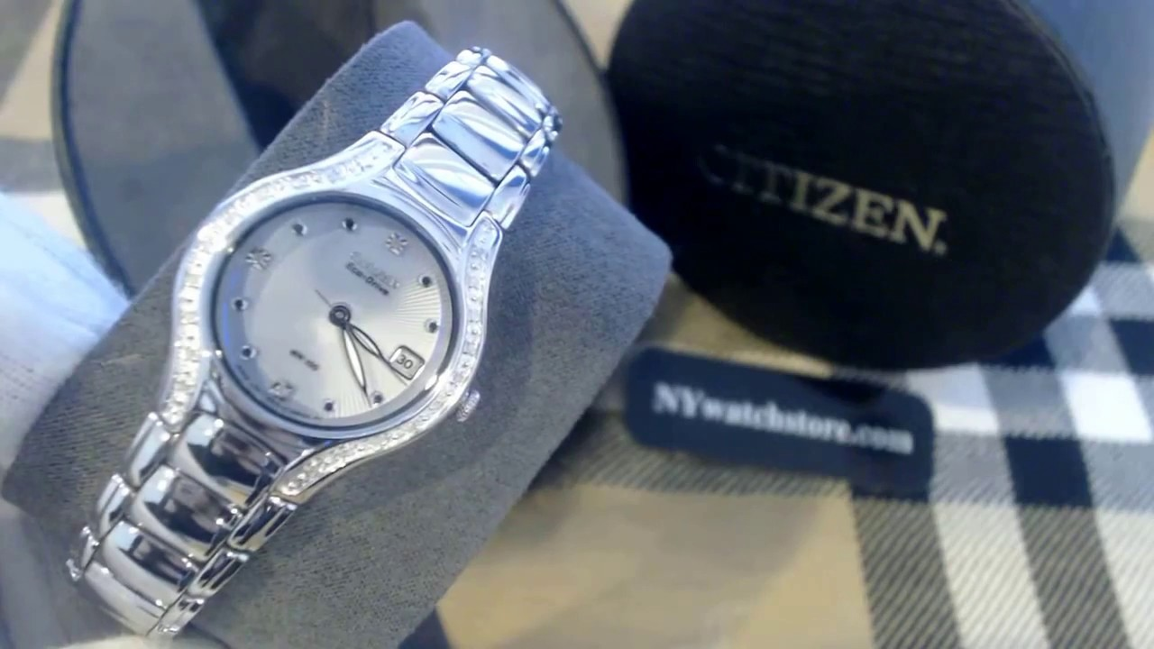 29c8b4e03fc67b Women's Citizen Eco Drive Modena Diamond Watch EW0970 51B - YouTube