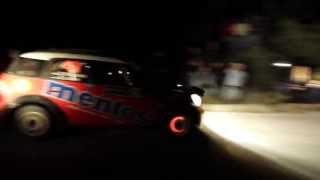 Rally Acropolis 2013 ss2 Kineta night pass MINI John Cooper Works Oleksii Kikireshko (full HD)