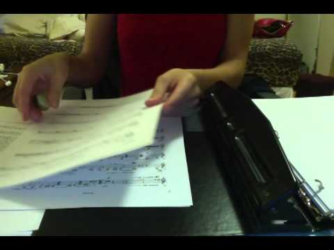 Organizing my gig book! No talking, just ASMR!