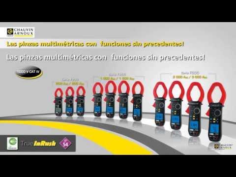Pince ampèremétrique numérique CHAUVIN ARNOUX F200, F400, F600