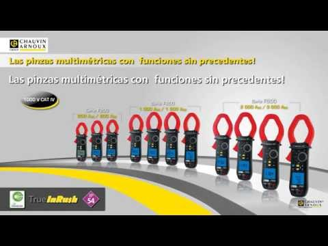 PINZA AMPERIMETRICAS CHAUVIN ARNOUX SERIES F200, F400, F600