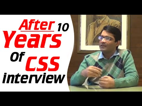 After 10 Years Of CSS Interview| Qasim Ali Shah | Urdu/Hindi