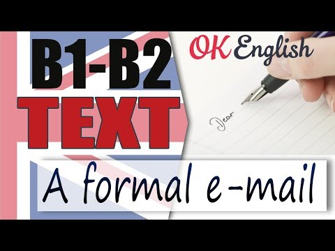 A formal email  - Деловое письмо  📘 Intermediate English text