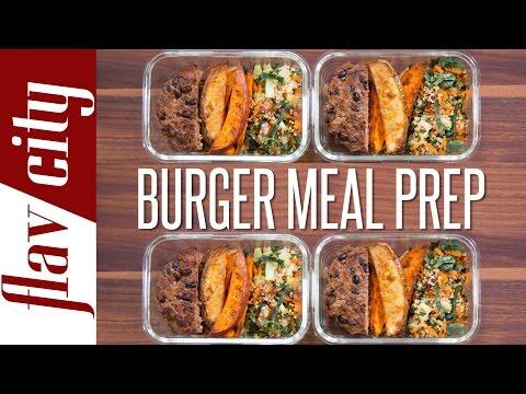 Healthy Burger Meal Prep – Easy Meal Prep Recipes