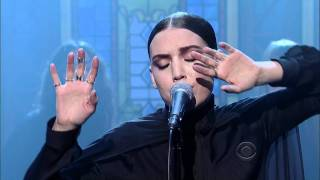 Lykke Li - Silent My Song on  the Late Show with David Letterman 11-17-11