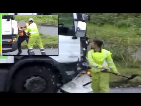 Driver Smashes Truck Window With a Shovel In Crazy Road Rage Incident