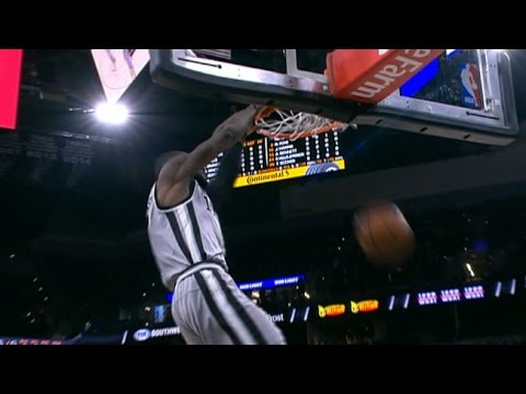 I may be bias being Aussie but have always felt this alley-oop never got the recognition it deserved. A well-designed play that leads to a perfect lob by Patty Mills amongst 4 defenders for Jonathan Simmons to come in from the perimeter and finish off the play. One of the best alleys in history IMO.