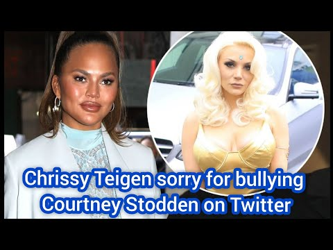 Courtney Stodden accepts Chrissy Teigen's apology for social media bullying her