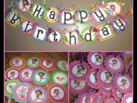 Diy Dora Birthday Party Decorating Ideas Youtube