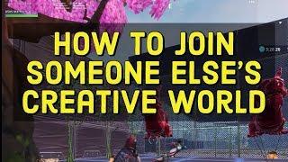 Comment rejoindre la carte créative de quelqu'un d'autre en fortnite ( Martoz tortue guerres code créatif )