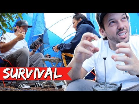 OVERNIGHT URBAN CAMPING IN HOLLYWOOD!!