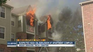 Suspected hash oil explosion at apartment complex