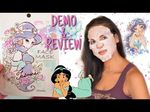 PRINCESS JASMINE SHEET MASK DEMO & REVIEW | DISNEY BEAUTY