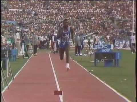 Carl Lewis Long Jump Gold:8.67m.Rome,1987 World Championships