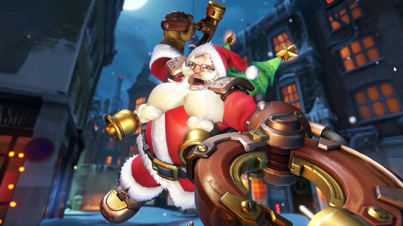 Santaclad Torbjörn Skin 「 Overwatch Gameplay │Winter Wonderland ...