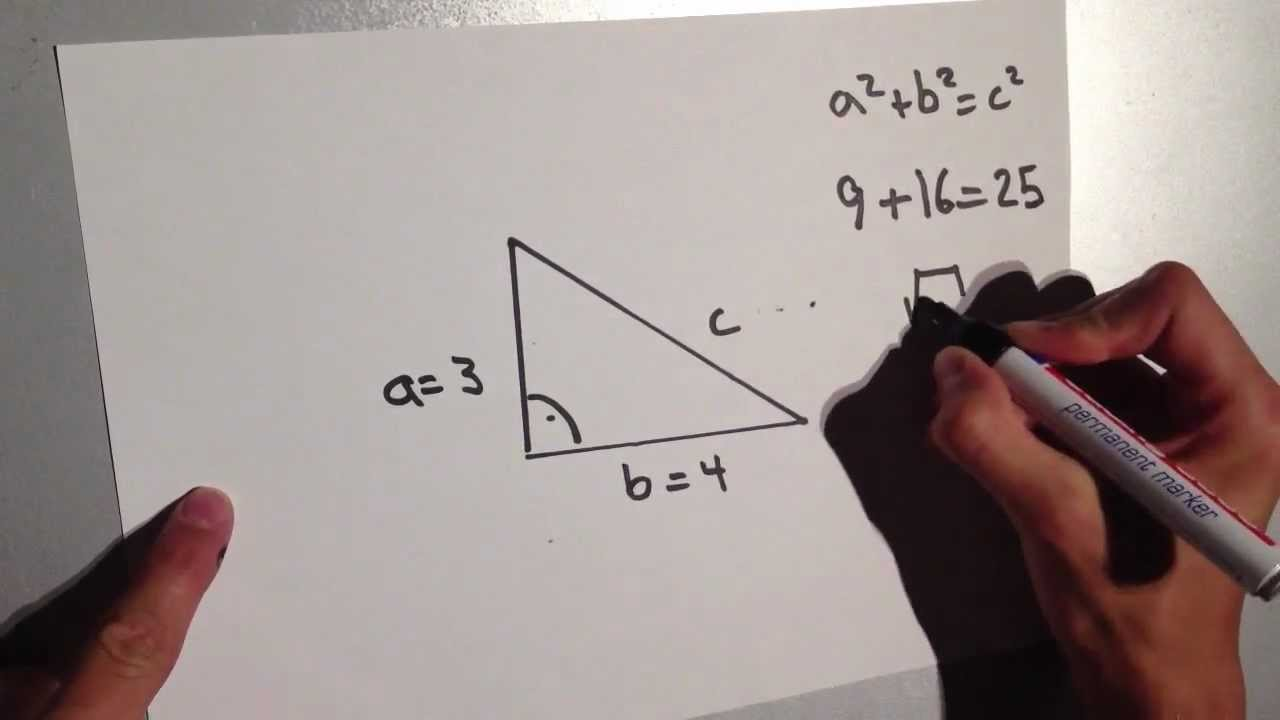Satz des Pythagoras erklären - Mathe Aufgaben erklärt - YouTube