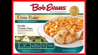 Bob Evans Double Cheddar Pasta with Seasoned Bacon Taste Test Review | JKMCraveTV