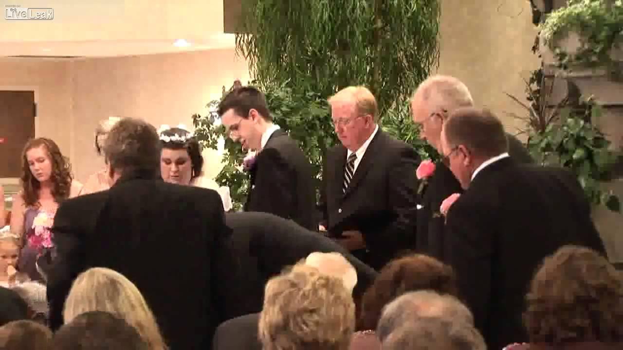 Ring Boy Faints At A Wedding YouTube