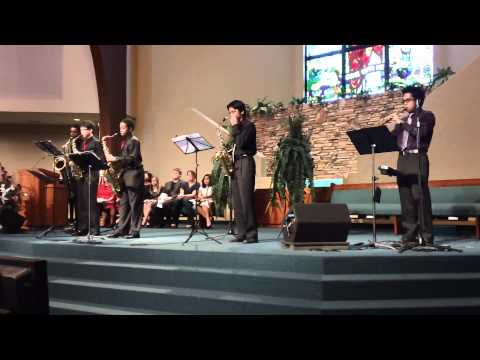 Pleasant Hill Adventist Academy's Sax Quintet - Wade In the Water
