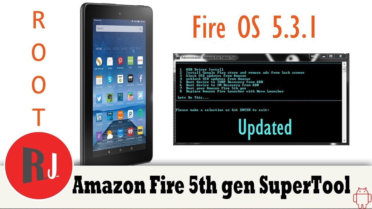 Amazon Fire 5th Gen Fire OS 5 3 1 Rooted with Updated SuperTool