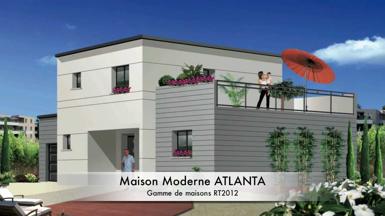 Maison moderne mod le atlanta rt2012 youtube for Modele maison