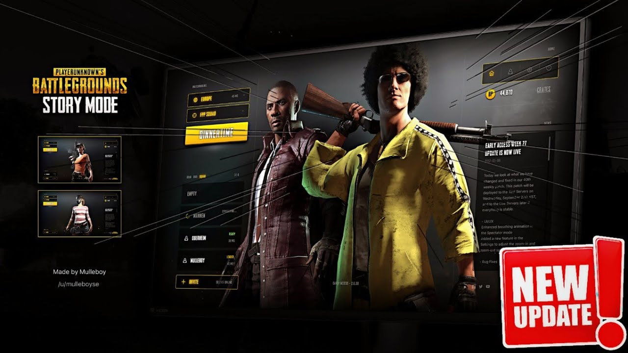 PUBG Mobile New Story Mode Update Release Date is Here