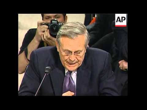 Excerpts of Rumsfeld and Cohen testimony at 9/11 hearing