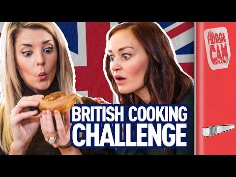 British Cooking Challenge ft. Grace Helbig & Mamrie Hart | FridgeCam