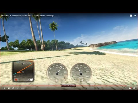 HOW BIG IS THE MAP in Test Drive Unlimited 2? Drive Across the Map