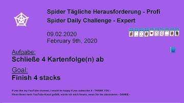 Finish 4 stacks | Spider Expert | Feb 9, 2020