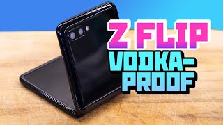 Flip phone in vodka - the ultimate test