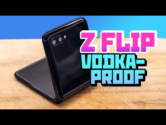 Flip phone in vodka - the ultimate test