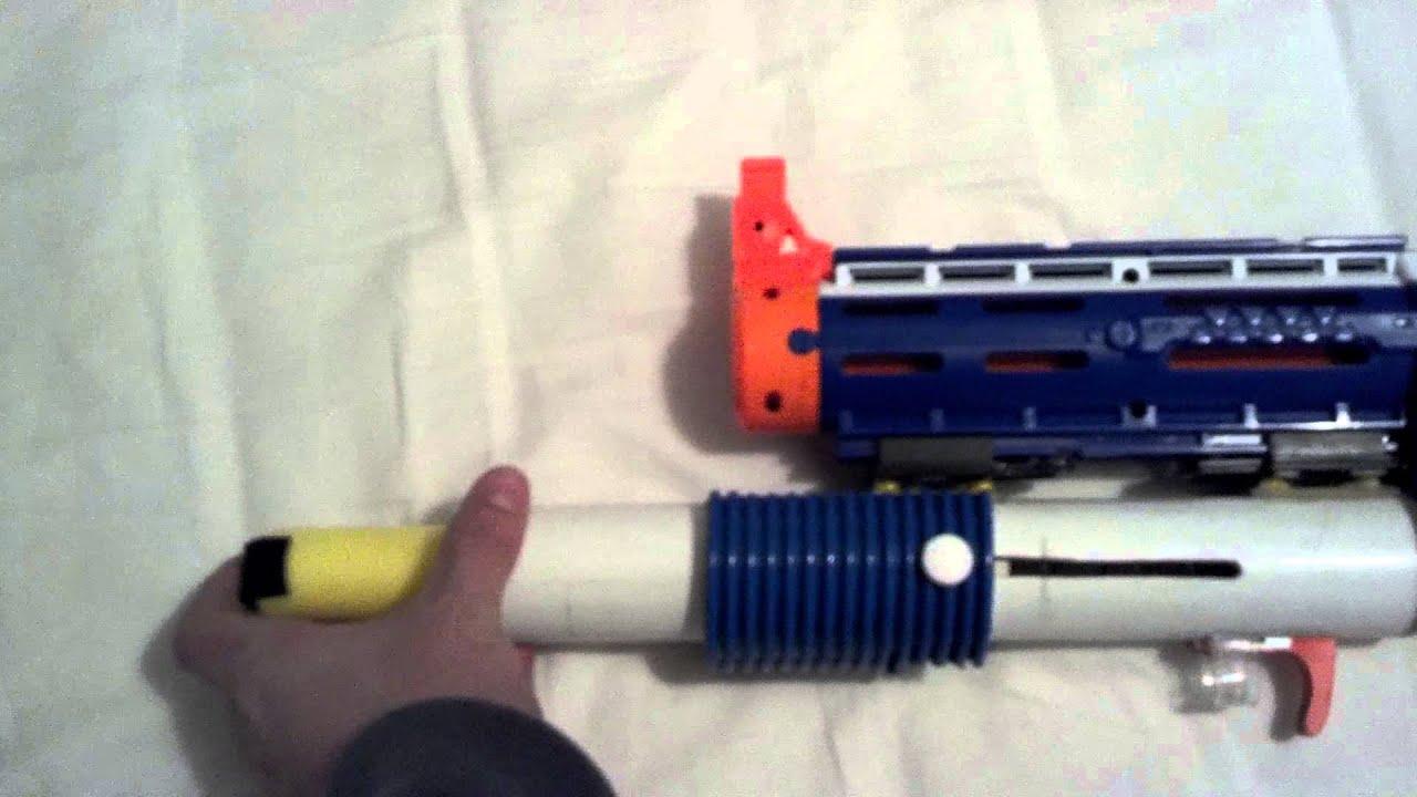 Nerf Grenade launcher - YouTube