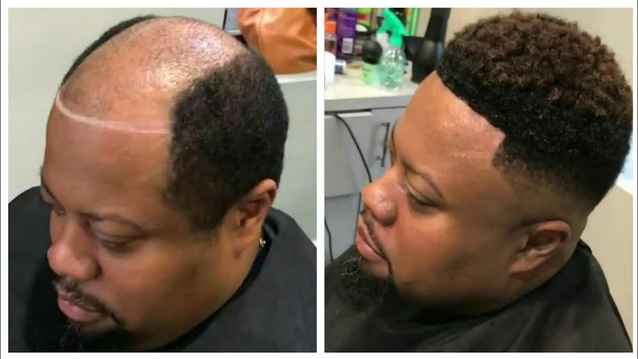 Man Weave Transformation Cut By John Cotton Afro Haircut INCREDIBLE.. Yep...