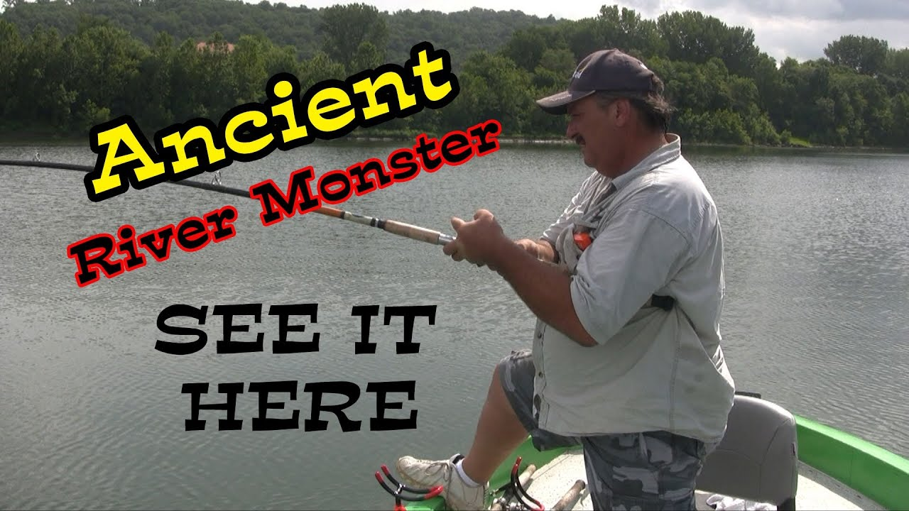 Prehistoric fish caught from the depths of the ohio river for Bucs fishing report