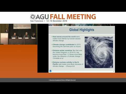 FM16 Press Conference: Explaining extreme events in 2015 from a climate perspective