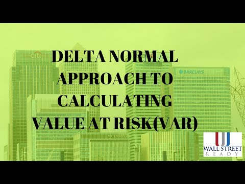 FRM - Delta Normal Approach To Value At Risk (VaR)