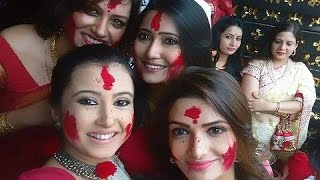 Bengali Actresses Sindur Khela | Tollywood Celebs enjoying