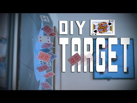 DIY: How To Make A CARD THROWING Target