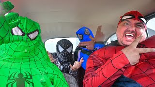 All Spider-Man's Dance in Car (Coffin Dance Music)